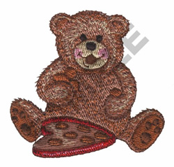 TEDDY BEAR WITH CANDY embroidery design