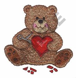 TEDDY BEAR & HEART embroidery design