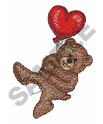 BEAR & HEART BALLOON embroidery design