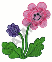 SMILING FLOWERS embroidery design