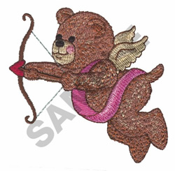 CUPID BEAR embroidery design