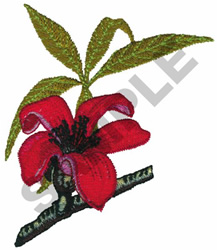 RED SILK embroidery design