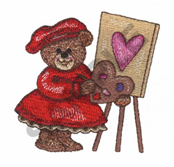 TEDDY BEAR PAINTING embroidery design