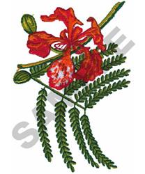 ROYAL POINTINCIANA embroidery design