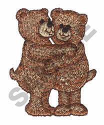 BEAR HUG embroidery design