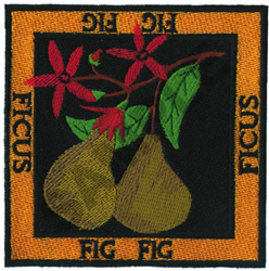 FIG embroidery design