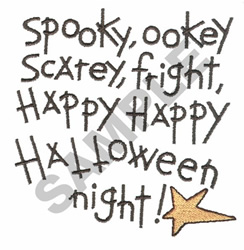 HALLOWEEN POEM embroidery design