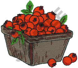 CHERRY TOMATO BASKET embroidery design