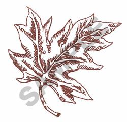 FALL OAK LEAF embroidery design