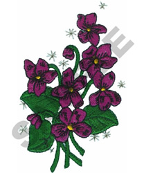 VIOLETS embroidery design