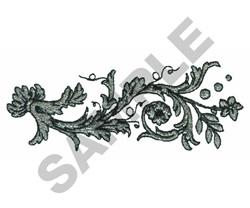 FLORAL CREST embroidery design