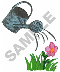 WATERING CAN W/FLOWER embroidery design