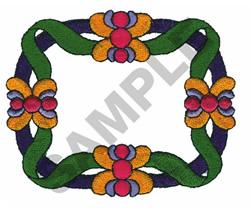 FLORAL FRAMEWORK embroidery design