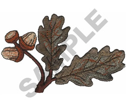 LEAVES WITH ACORNS embroidery design