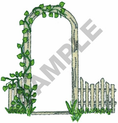 FENCE AND VINES embroidery design