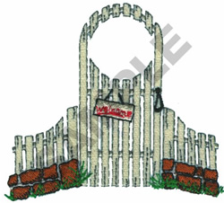 GARDEN GATE embroidery design