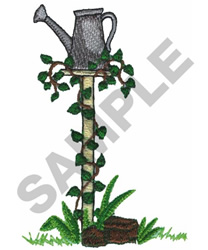 WATERING CAN PEDESTAL embroidery design