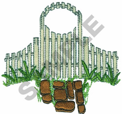 FENCE embroidery design