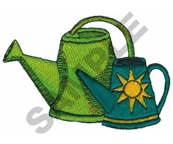 WATERING CANS embroidery design