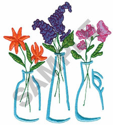 FLORAL VASES embroidery design