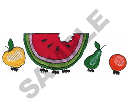 RUNAWAY FRUIT BORDER embroidery design