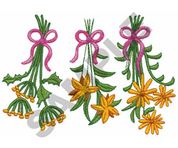 HANGING FLORAL BOUQUETS embroidery design