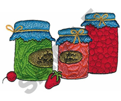PRESERVES embroidery design