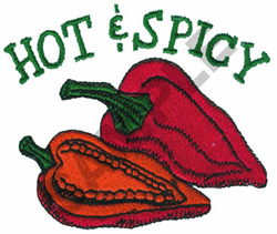 HOT & SPICY PEPPERS embroidery design