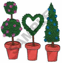 TOPIARIES embroidery design