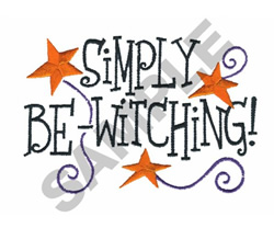 SIMPLY BE-WITCHING embroidery design