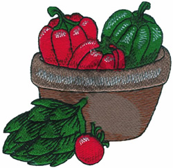 BOWL OF VEGGIES embroidery design