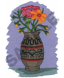 FLORAL POTTERY embroidery design