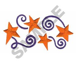 4 STARS embroidery design