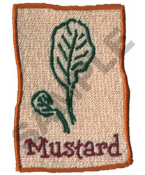 MUSTARD embroidery design