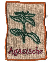 AGASTACHE embroidery design
