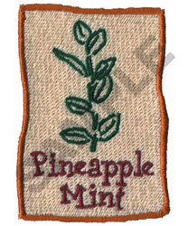PINEAPPLE MINT embroidery design