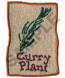 CURRY PLANT embroidery design