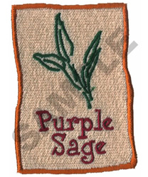 PURPLE SAGE embroidery design