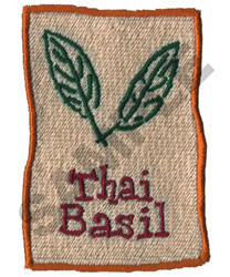 THAI BASIL embroidery design