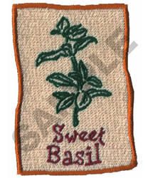 SWEET BASIL embroidery design