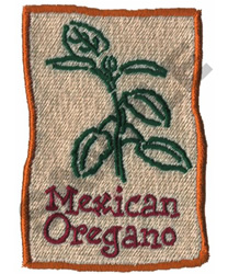MEXICAN OREGANO embroidery design