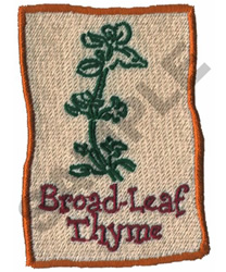 BROAD-LEAF THYME embroidery design