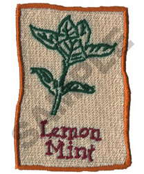 LEMON MINT embroidery design