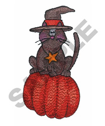 WITCHS CAT embroidery design