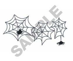 SPIDERS AND WEBS embroidery design