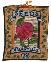 AMARYLLIS embroidery design