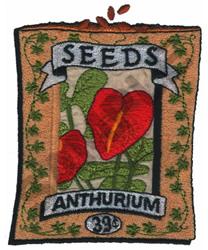 ANTHURIUM embroidery design