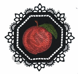 GARDEN LACE PEACH embroidery design