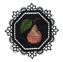 GARDEN LACE PEAR embroidery design