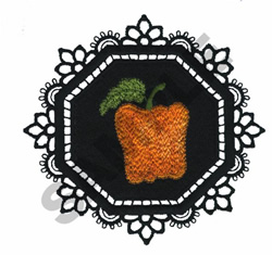 GARDEN LACE BELL PEPPER embroidery design